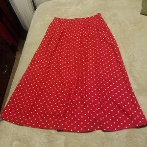 Vintage red polka dot skirt